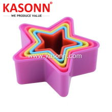 6pcs Star Plastic Cookie Cutters